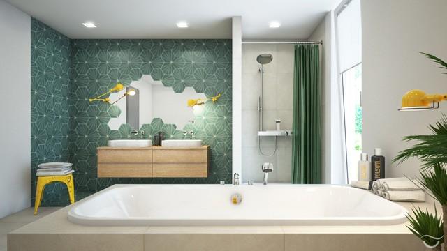 Badezimmer-Design HAPPY TOUCH コンテンポラリー-浴室