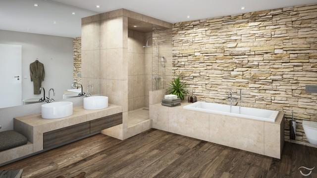 badezimmer design rustico. Black Bedroom Furniture Sets. Home Design Ideas