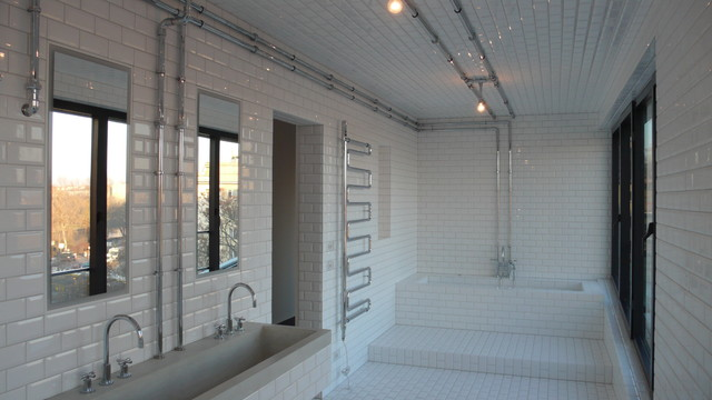 badezimmer industrial badezimmer berlin von koopx architekten. Black Bedroom Furniture Sets. Home Design Ideas