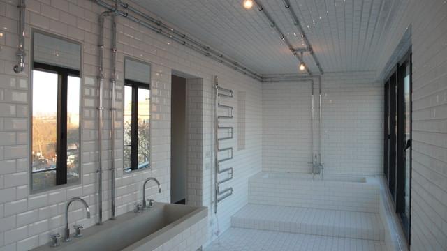 badezimmer industrial bathroom other metro by koopx architekten. Black Bedroom Furniture Sets. Home Design Ideas