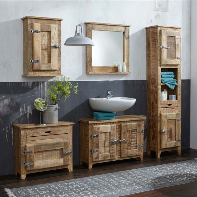 badm bel rustic bathroom cabinets and shelves other