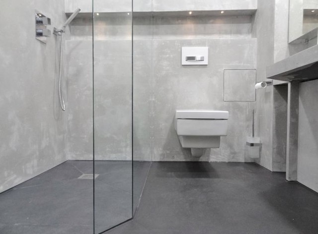 Bäder mit charakter bad ohne fliesen contemporary bathroom