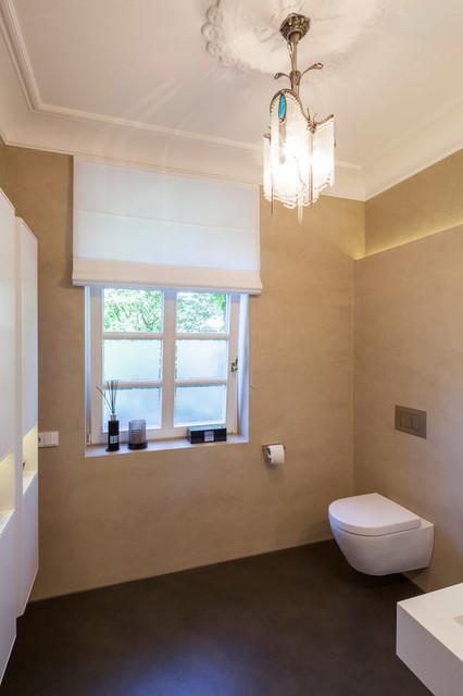 beton cirè im gäste-wc meets altbau-villa - modern - badezimmer, Badezimmer