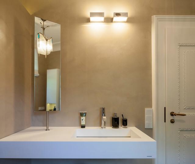 beton cir in traditionellem g ste wc modern badezimmer d sseldorf von einwandfrei f r. Black Bedroom Furniture Sets. Home Design Ideas