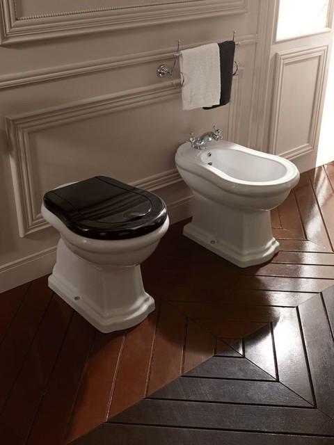Bidet Wc Kombination Retro Klassisch Badezimmer