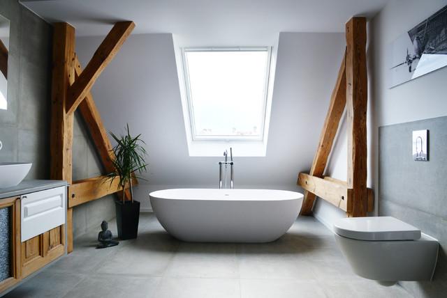 dachausbau berlin 2 modern badezimmer berlin von studio swen burgheim. Black Bedroom Furniture Sets. Home Design Ideas