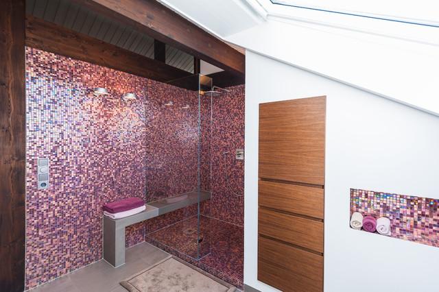 Duschbad mit Mosaik - Modern - Badezimmer - Frankfurt am Main - von ...