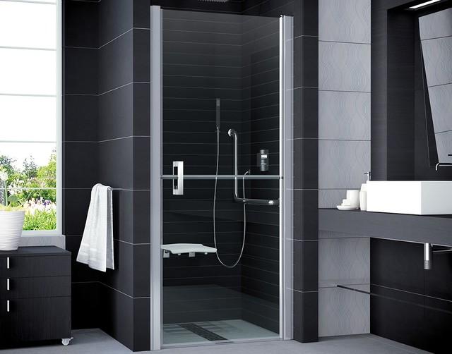 Bad Design Heizung duschtür rollstuhlgerecht modern badezimmer köln bad