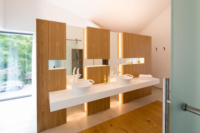 einfamilienhaus neubau - modern - badezimmer - bremen - von schulz, Badezimmer