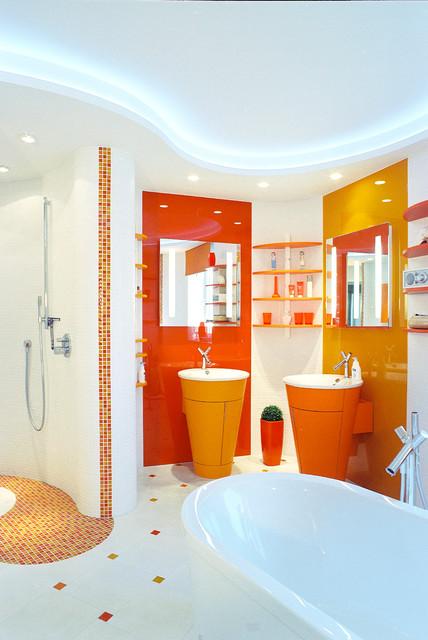 Exklusive Badeinrichtung Modern Badezimmer