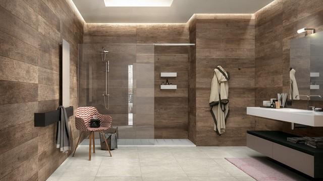 Fliesen in Holzoptik - Modern - Badezimmer - München - von ...