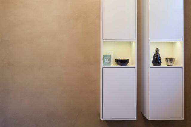 Gäste wc mit beton ciré modern badezimmer düsseldorf von