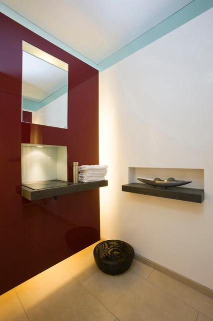 Gäste WC mit Waschnische - Indirekte Beleuchtung - Modern ...