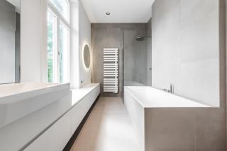 75 Badezimmer Mit Beigefarbenen Fliesen Ideen Bilder Marz 2021 Houzz De