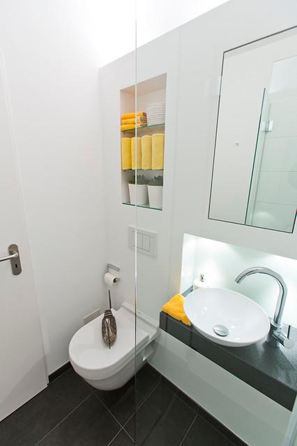 G?ste Wc Mit Dusche Ideen : Ideen f?r kleine B?der/ G?ste WC mit Dusche – Contemporain – Salle