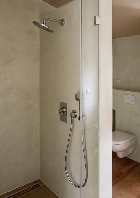Kalkputz In Der Nasszelle Contemporary Bathroom