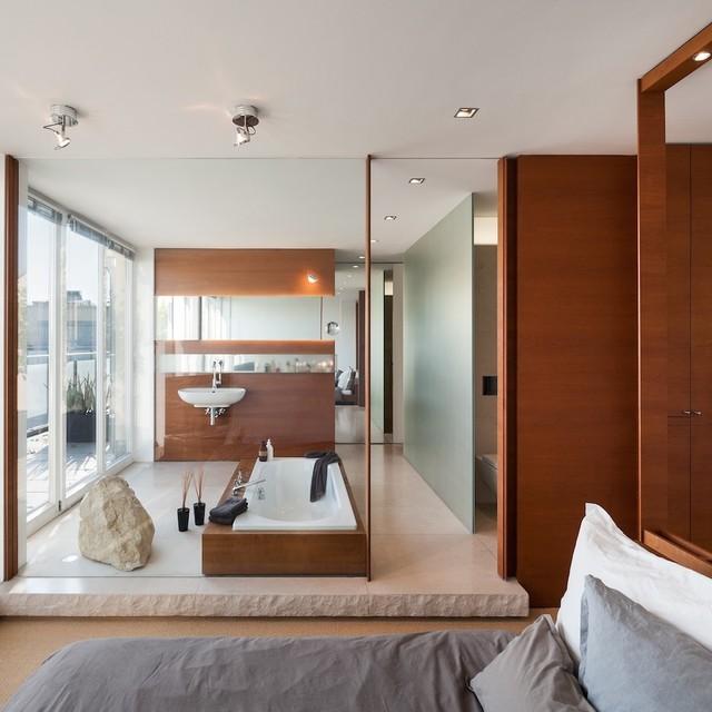 loft n - contemporary - bathroom - munich - by innenarchitektur-rathke, Innenarchitektur ideen
