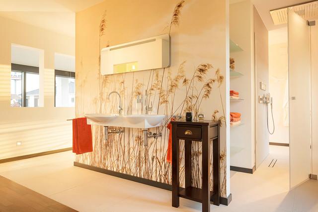 luxhaus musterhaus frechen k ln contemporary bathroom. Black Bedroom Furniture Sets. Home Design Ideas