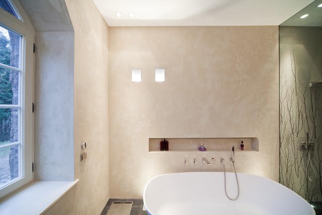 Masterbad Mit Mineralputz Contemporary Bathroom