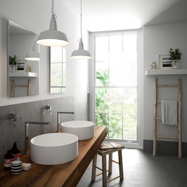 Mineralwerkstoff LG Hi Macs Eklektisch Badezimmer