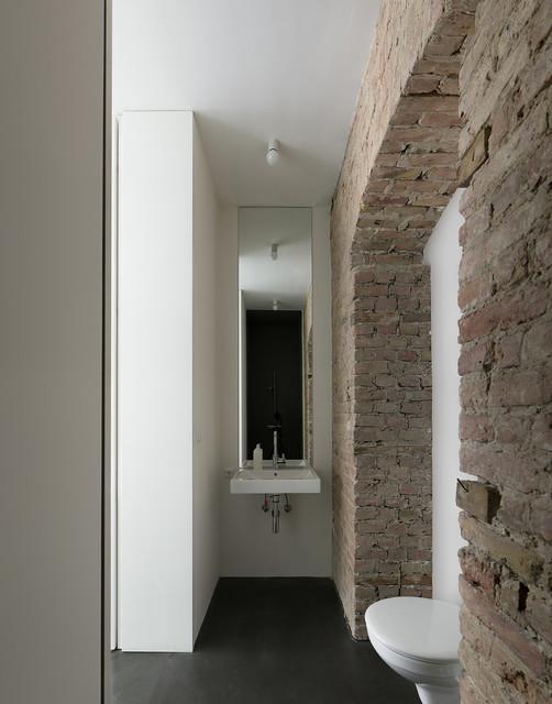 mini apartment rustikal badezimmer berlin von jan r sler architekten. Black Bedroom Furniture Sets. Home Design Ideas