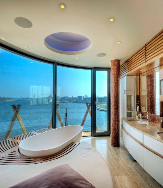 penthouse im stadthafen contemporary-bathroom