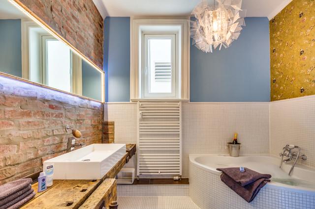 badezimmer mit eckbadewanne - design-ideen & beispiele für die
