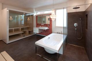 modernes wohnhaus mit offenem grundriss. Black Bedroom Furniture Sets. Home Design Ideas