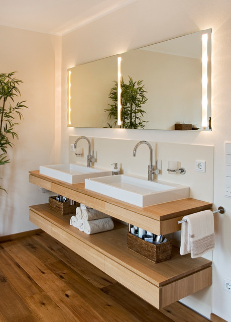 Modernisierung Badezimmer (SCH) - Contemporary - Bathroom - Frankfurt ...