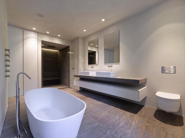 Muschelkalk modern badezimmer stuttgart von cyrus - Badezimmer stuttgart ...