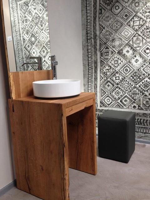 Schöllgen Haustechnik orientteppich im badezimmer wasserfeste tapete shabby chic style