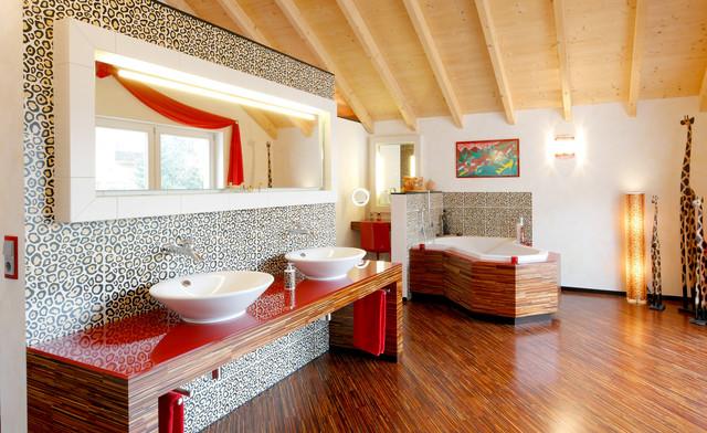 卫生间细节混搭风格装饰图片