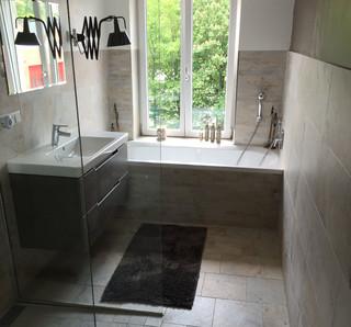 Sanierung 50er jahre bad vorher nachher modern badezimmer stuttgart von altbau manufaktur - Badezimmer stuttgart ...