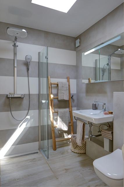 sanierung 70er bungalow vorher nachher skandinavisch badezimmer sonstige von jaqueline. Black Bedroom Furniture Sets. Home Design Ideas
