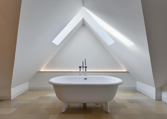 sanierung eines alten fachwerk katen an der ostee mit anbau modern badezimmer berlin von. Black Bedroom Furniture Sets. Home Design Ideas