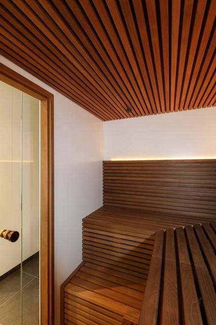 Sauna modern badezimmer berlin von kjubik innenarchitektur - Badezimmer sauna ...