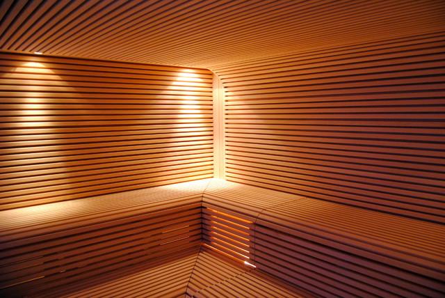 sauna bauhaus look fitnessraum other metro von. Black Bedroom Furniture Sets. Home Design Ideas