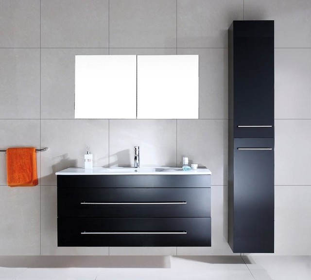 set versus schwarz seidenglanz modern badezimmer sonstige von emotion. Black Bedroom Furniture Sets. Home Design Ideas