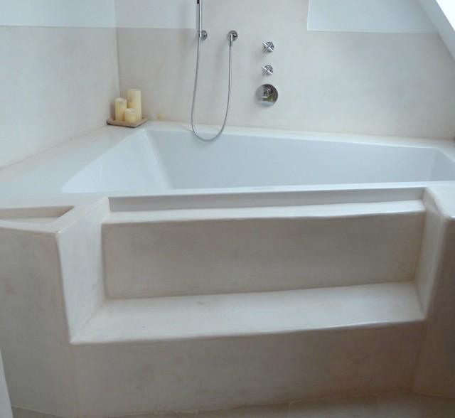 Tadelakt Bad Privathaus Modern Bathroom Frankfurt By