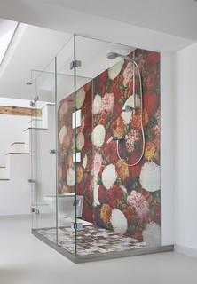 modern badezimmer - Wasserfeste Tapete Fur Dusche