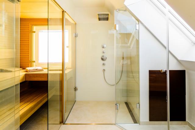 Umbau eines einfamilienhauses modern badezimmer for Badezimmer design hannover