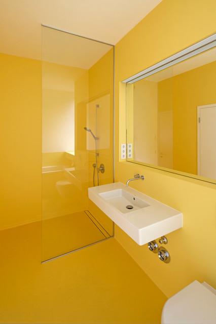 umbau fabriketage badezimmer modern badezimmer. Black Bedroom Furniture Sets. Home Design Ideas