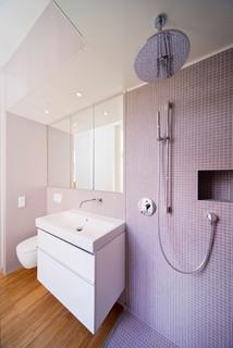 Kleine Badezimmer mit Mosaikfliesen Ideen, Design & Bilder ...