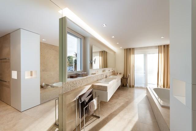 villa g minimalistisch badezimmer m nchen von. Black Bedroom Furniture Sets. Home Design Ideas
