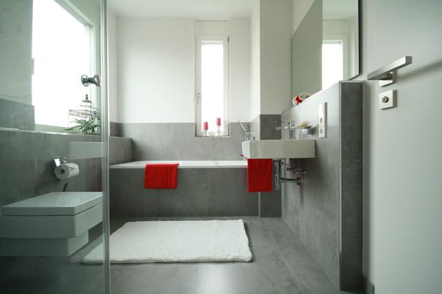 Villa München Gräfelfing contemporary-badrum