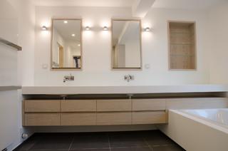 Waschtisch corian minimalistisch badezimmer for Badezimmer corian