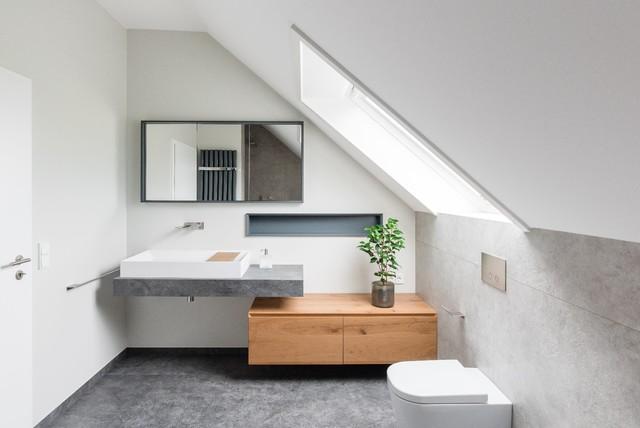 Waschtisch Dachschräge - Modern - Badezimmer - Frankfurt am ...