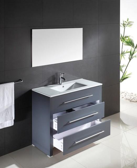 Waschtisch Waschbecken anthrazit - Modern - Badezimmer - von emotion ...