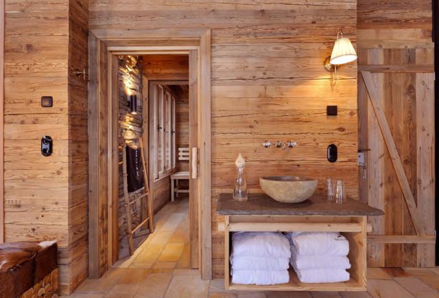 Wellnessbereich, Chalet Grand Flüh   Das Wohlfühl Chalet Rustikal Badezimmer