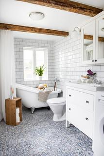 Fantastisk Foton och badrumsinspiration för lantliga badrum RR-65